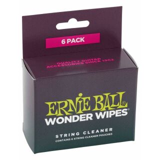 ERNIE BALL Wonder Wipes String Cleaner 6Pack.