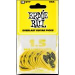 Ernie Ball 9195 Everlast Plektrum 1,5 mm 12er Pack. gelb neu